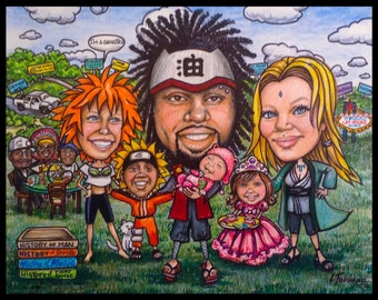 CUSTOM CARICATURE, portrait caricature, family caricature, personalized caricature, portrait caricature, child portrait gift, caricatures