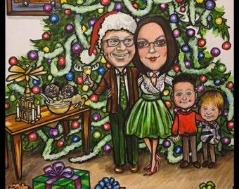 Christmas cards, Xmas cards, Christmas card, GRISWOLD'S Christmas cards, Xmas cards, custom Christmas cards, custom caricature, portraits
