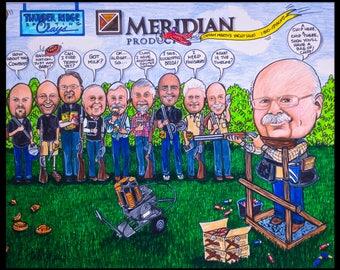 Custom caricature, retirement gift, retirement for women, retirement for men, retirement cartoon, retirement caricature, wedding gift