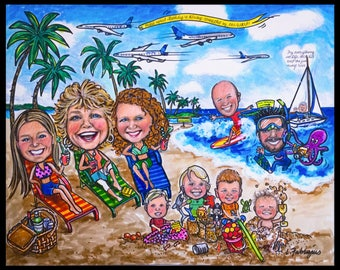 Custom caricature, retirement for man, retirement for woman, retirement for men, retirement for women, boss retirement , retirement for boss
