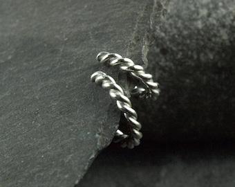 earcuffs, pair, silver