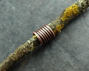 Dreadlock, dread jewelry, Rasta, spiral, wire work, copper
