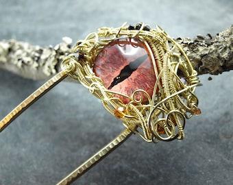 wire work hairfork, dragoneye