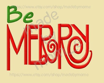 Be Merry Embroidery