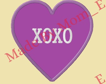 Conversation Heart Applique - XOXO