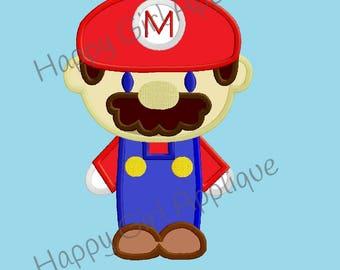 Mario Brothers - Mario Applique