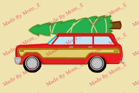 Christmas Vacation Car.Red Christmas Vacation Car And Tree