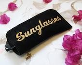 Black sunglasses case,  Sunglasses case, leather sunglasses case , glasses cases, eye wear cases, sunglasses pouch