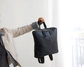 BLACK leather backpack, school backpack, backpack for women, leather backpack large, leather school bag, black leather bag, Made to order