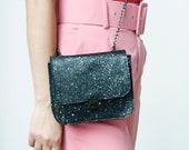 black cross body bag Leather Box Bag, Saddle Bag, Shoulder Bag, leather Cross body bag, black Clutch Bag, Limited edition bag, Pink box bag