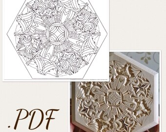 photo about Printable Chip Carving Patterns titled Chip carving practice Etsy