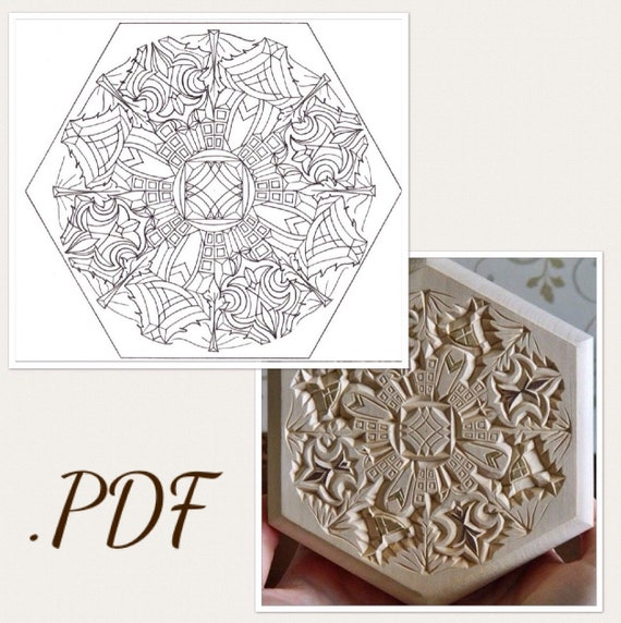 Pdf digital download hand drawn chip carving pattern wood etsy