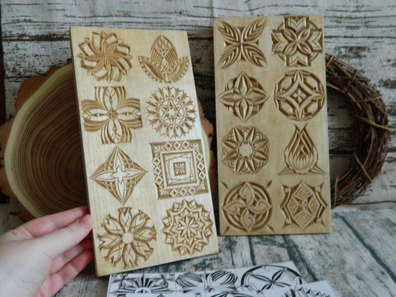 Pattern challenge set boards with carved patterns and drawings etsy