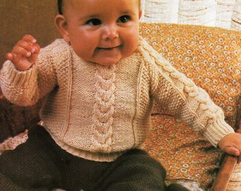 9c7fcd2b6 Baby cable sweater