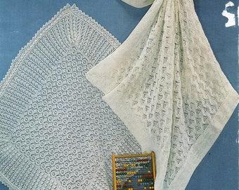 73ddb958c baby 2ply shawls knitting pattern pdf lace Christening shawl