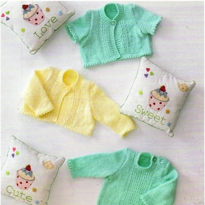 f9671e1c5803 so cheap 1b8fe 8c24e baby knitting pattern k3320 short sleeve picot ...