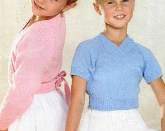 Girls 4ply Ballet Cardigans Knitting Pattern Pdf Ballet Tops Etsy