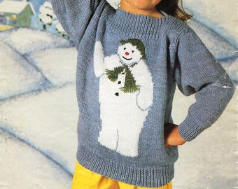 Childrens Mohair Cat Motif Sweater Knitting Pattern Pdf Dk Etsy