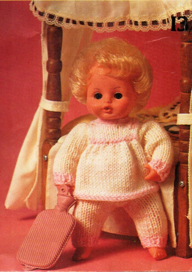Baby Doll Clothes Knitting Pattern Pdf Baby Doll Pyjamas
