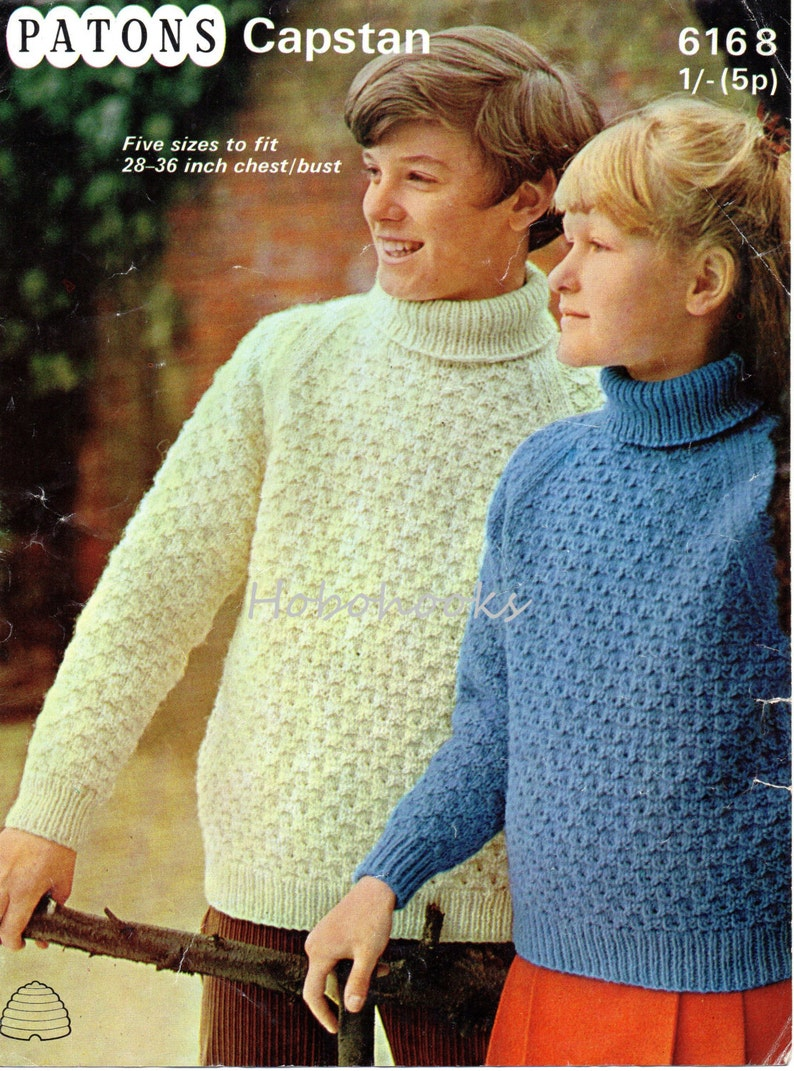 c1abc8f4d Childrens polo neck sweater knitting pattern pdf roll neck
