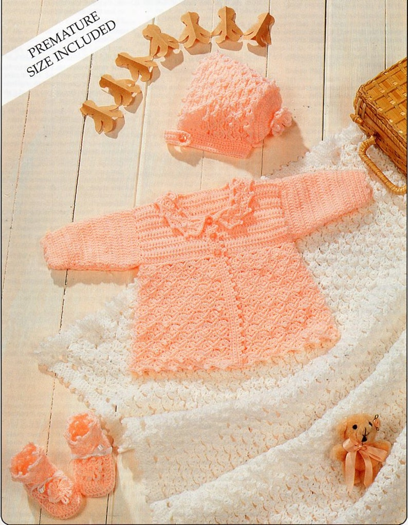 6a03cf856 Baby crochet coat shawl crochet pattern pdf matinee jacket