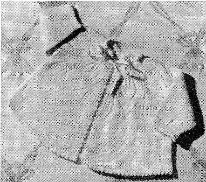 c3633b3bb454 Baby Knitting Pattern Baby Matinee Coat Baby Matinee Jacket