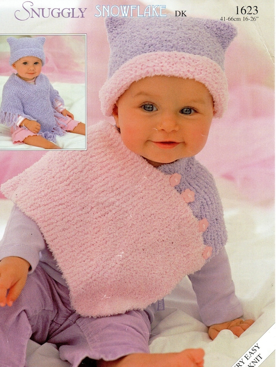 baby ponchos knitting pattern childs ponchos & hats chenille