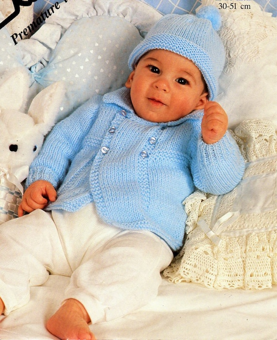 "on one Knitting pattern 14-20/"" Baby boy,Jacket-romper suit hat,boots /& mittens"