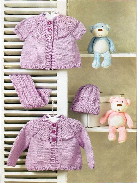 fc1cd4386b9f Baby Cardigans Baby Knitting Pattern PDF Baby short sleeve