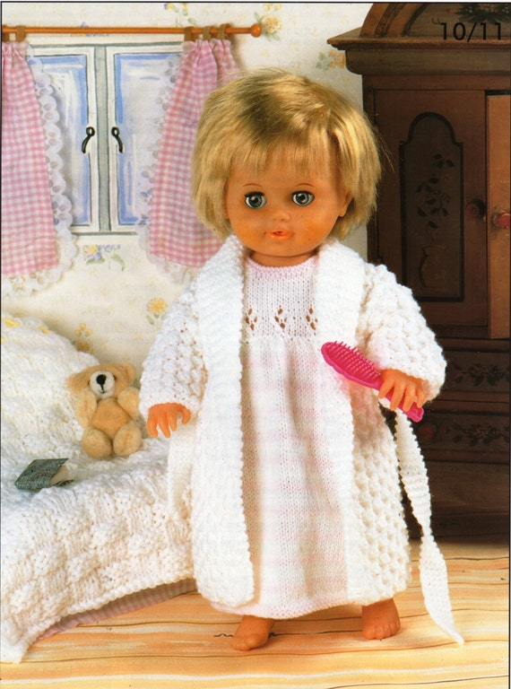 Baby dolls clothes knitting patterns pdf dolls nightdress