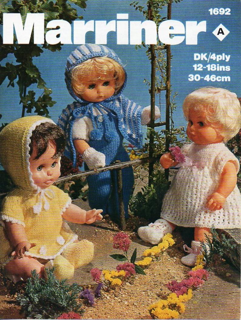fb111cd9e Baby doll clothes knitting pattern pdf doll dress cape