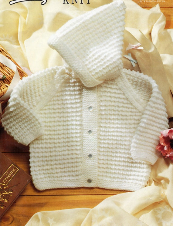 0a47e6220110dc Baby Knitting Pattern baby hooded jacket baby hooded cardigan