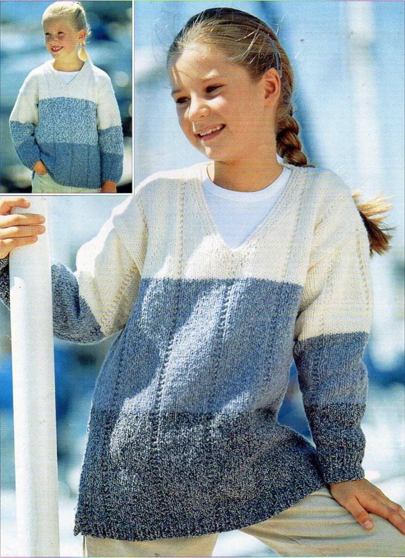 368ffeeb1 childs   childrens sweater knitting pattern pdf aran long line