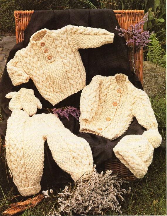 63a58145c baby aran sweater cardigan knitting pattern pdf cable jumper