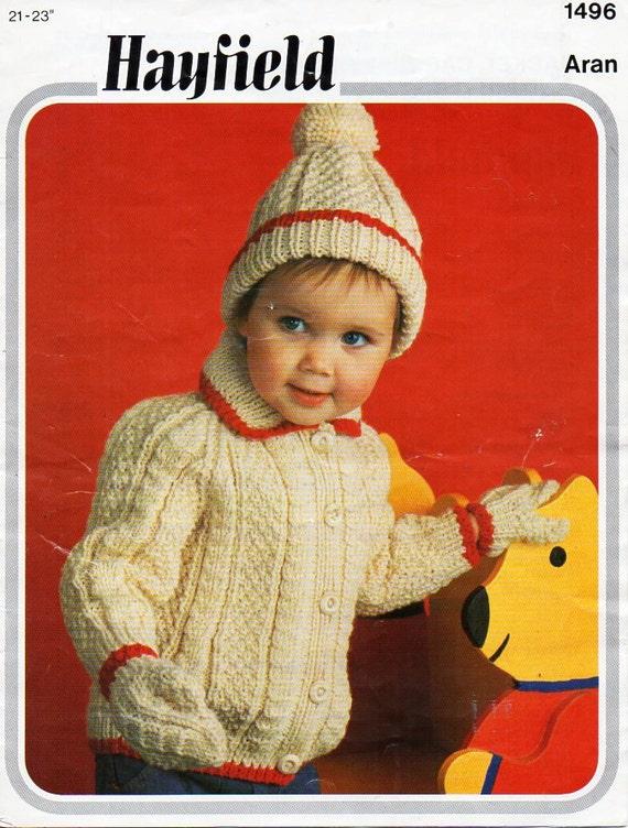 bef8926dd baby aran jacket cap mittens knitting pattern pdf baby aran