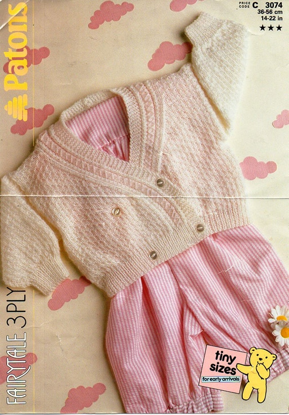 2 Shades Hand knitted Crossover Cardigans Early Baby