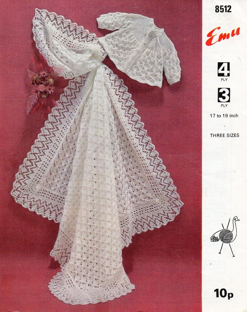 28d580923 Baby Shawl Knitting Pattern PDF matinee coat square shawl