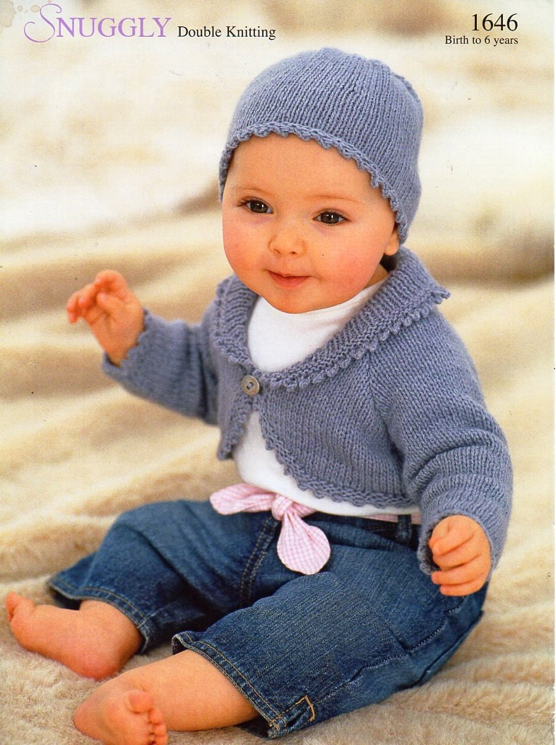 Baby Childs Childrens Bolero Knitting Pattern Pdf Girls