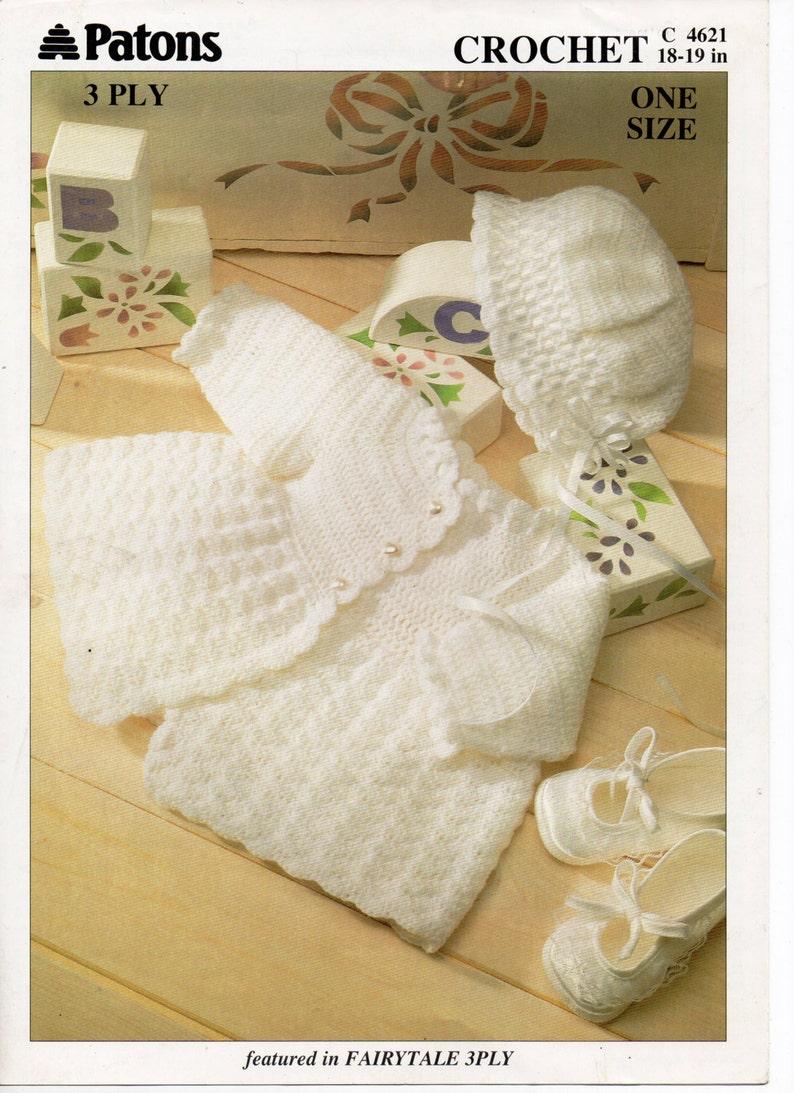 ef5ebd549238 Baby CROCHET PATTERN pdf matinee jacket   bonnet matinee coat