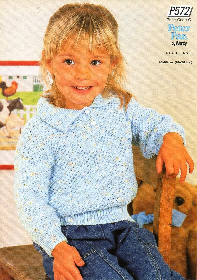 Baby Childs Polo Shirt Knitting Pattern Pdf Collared Jumper Etsy