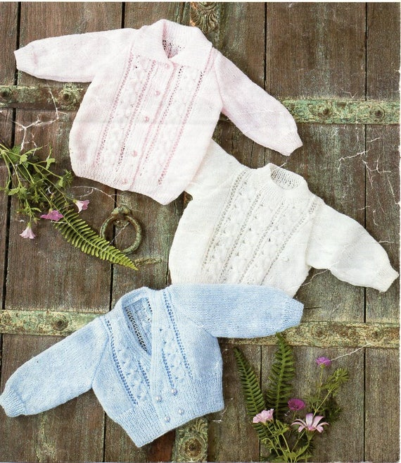 22e57fe95 baby knitting pattern pdf 4ply baby jacket sweater and