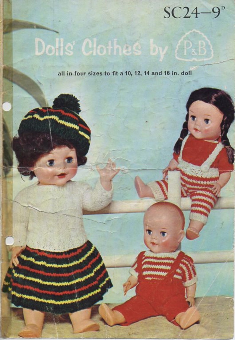 0163d9ee3 Baby Doll Clothes Knitting Pattern PDF Dolls kilt sweaters