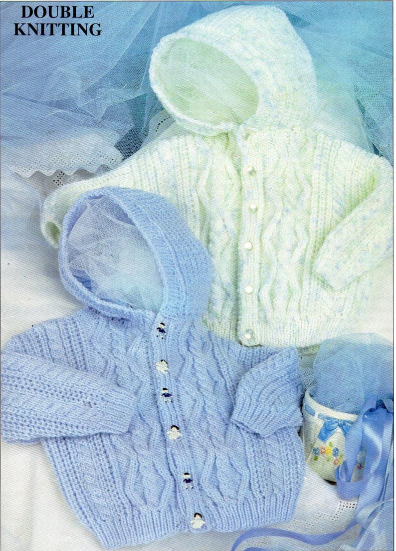 9df8ad98c0b6 Baby   child s hooded Aran jacket knitting pattern PDF
