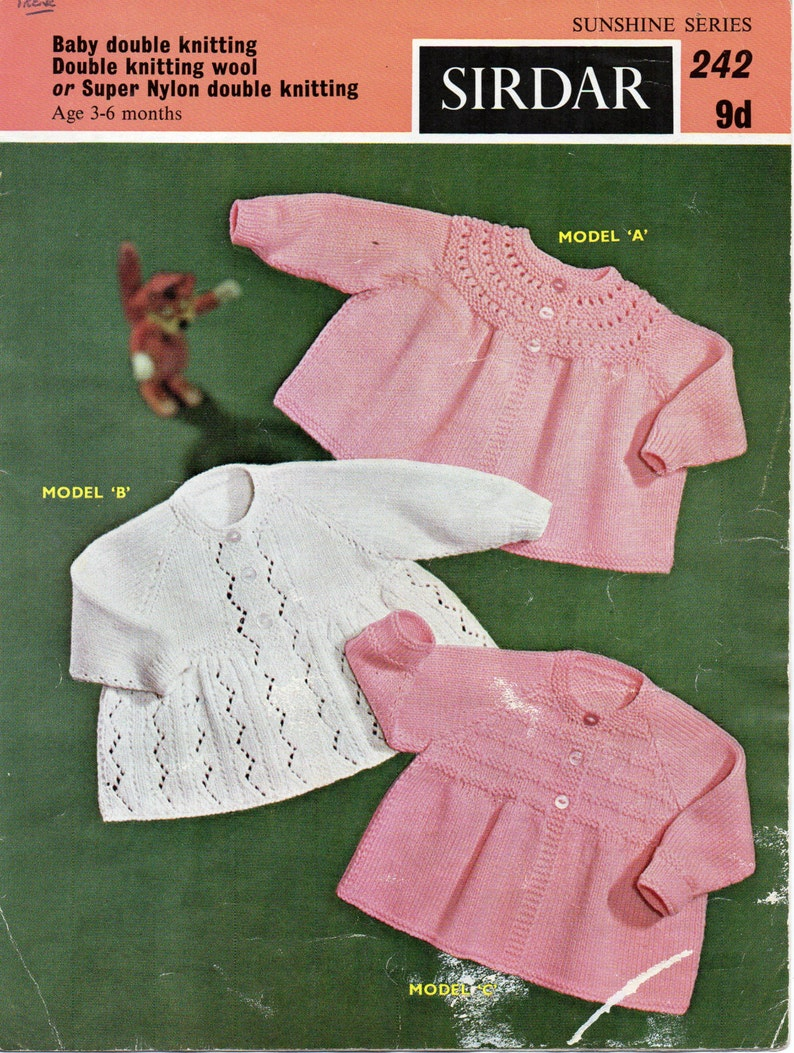 ddf6217fe SALE baby matinee coat knitting pattern matinee jackets lacy