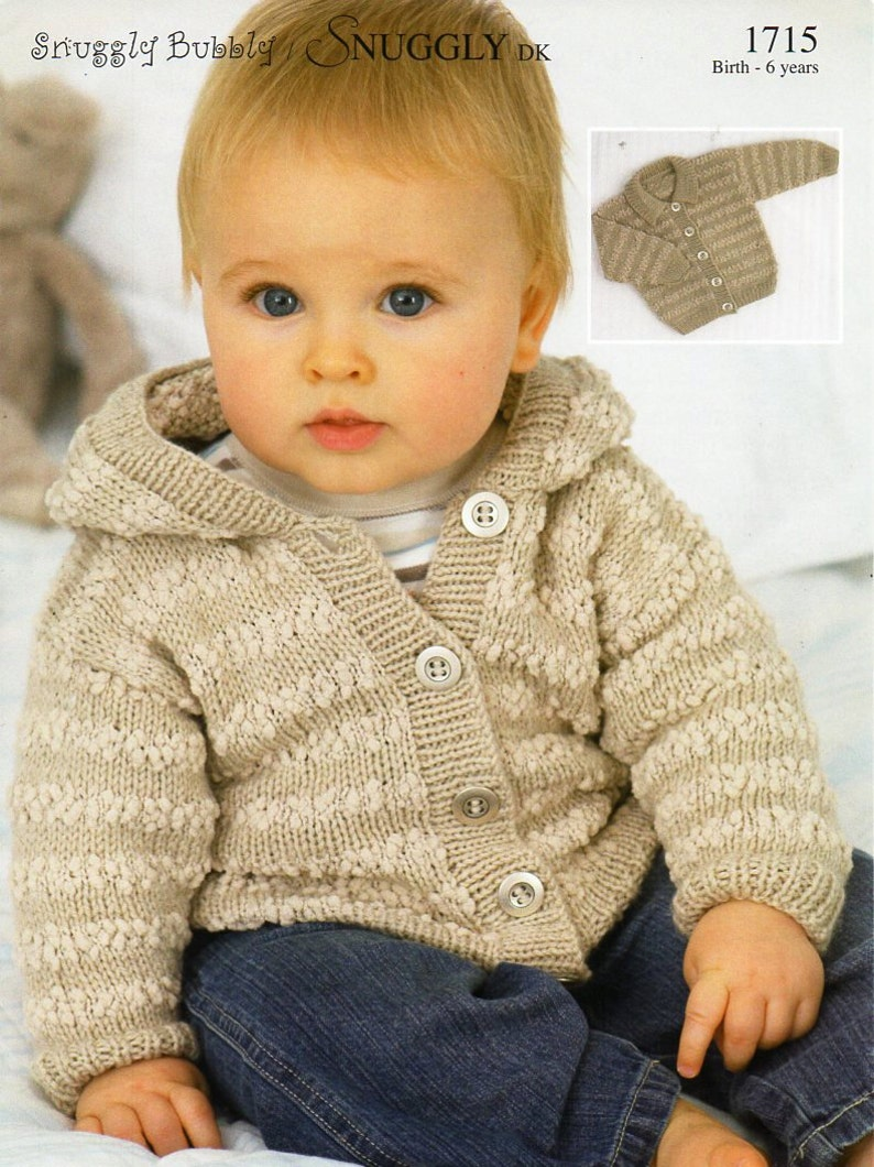 e79a456943f8 Baby   childs hooded jacket knitting pattern pdf DK   nub baby