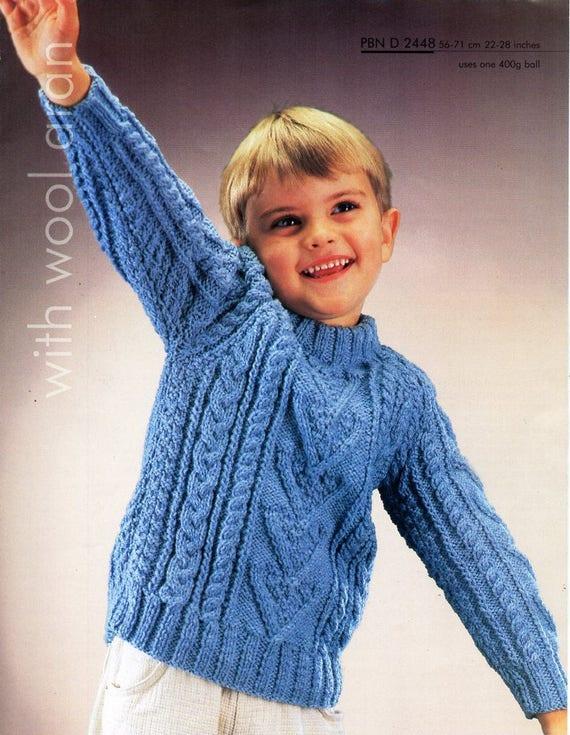 childs aran sweater knitting pattern pdf childrens aran ...