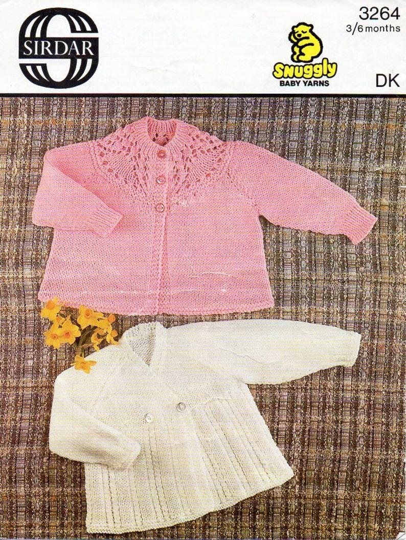 25f55687fbf8 Vintage baby matinee jacket knitting pattern pdf matinee coat