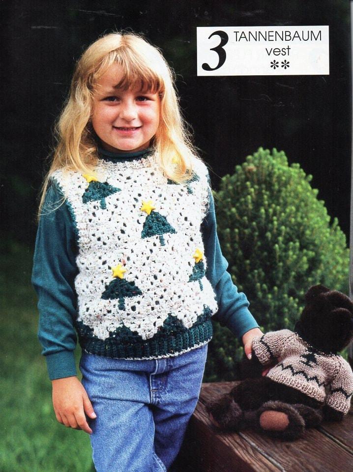 Childrens Crochet Christmas Sweater Pattern Crochet Pattern Etsy