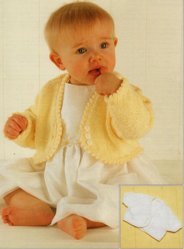 Baby Knitting Pattern Girls Knitting Pattern Bolero Baby Etsy