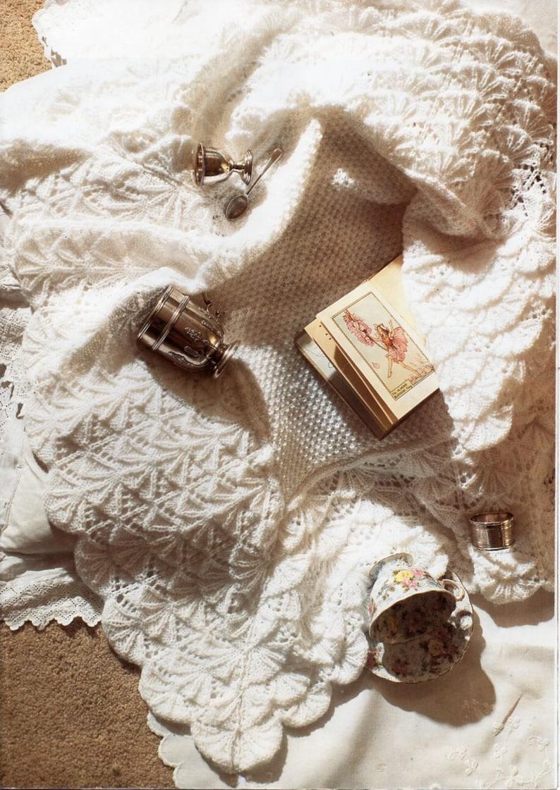 c647d8f0b Baby shawl knitting pattern pdf 4ply baby shell pattern square